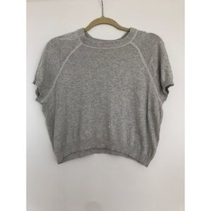 Grey sweater crop top - small BDG